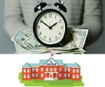 Bani pentru rechizite scolare